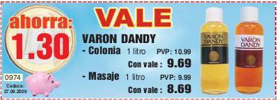 Ahorra 1,30 € en tu Varon Dandy