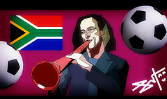 Kenny G Playing a Vuvuzela