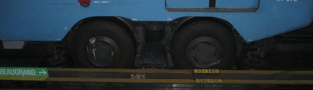 Neumáticos. Metro de Montreal