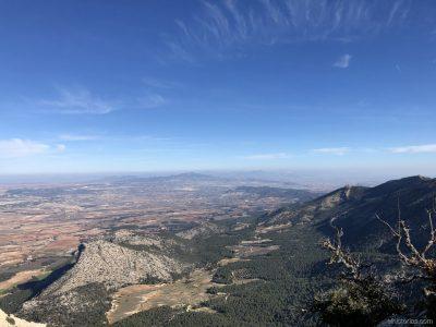 Cerro del Ciervo, Morrón de la Cabra y El Barbol al fondo